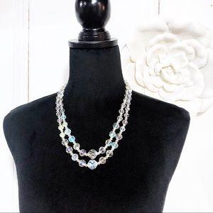 Vintage Aurora Borealis 2-strand Necklace